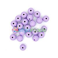 Бусины пластиковые круглые 12 мм, 20 г, СИРЕНЕВЫЕ