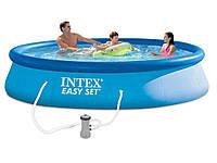 Бассейн наливной  easy set pool intex 28142+ фильтрующий насос hn kk