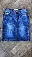 Юбка джинсовая классическая карандаш, юбка джинсовая женская до колена, юбка джинсовая прямая, короткая, фото 1