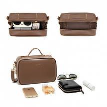 Сумка женская Micocah Suitcase коричневая eps-6105, фото 2