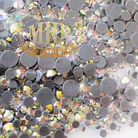 Термостразы DMC Premium MIX, цвет Crystal AB, 1000шт