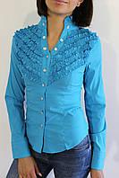 Рубашка женская голубая 2272 S.M.L.XL.XXL