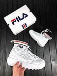 Женские кроссовки Fila Disruptor II EVO Sock. Живое фото (Реплика ААА+), фото 3