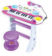 Детский синтезатор с микрофоном и стульчиком 7235 ав,кк HN