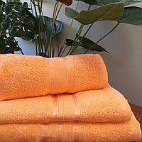 Махровое полотенце 70х140, 100% хлопок 400 гр/м2, Пакистан, Коралл, Без борда