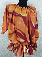 Шифоновая терракотовая пляжная блузка (цв.13)