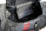 Спортивная сумка Adidas с отделом для обуви. Сумка в дорогу. Дорожная сумка. Сумка для занятий спортом., фото 9