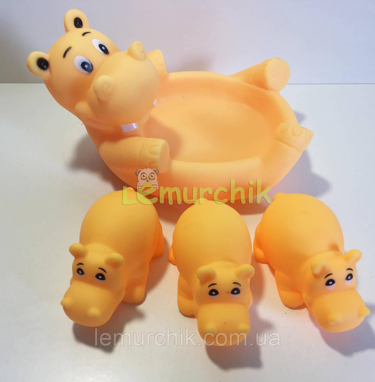 """Набор игрушек в ванночку 4 шт """"Бегемотики"""""""