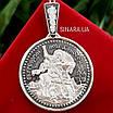 Георгий Победоносец иконка серебро 925 - Серебряный кулон Георгий Победоносец, фото 2