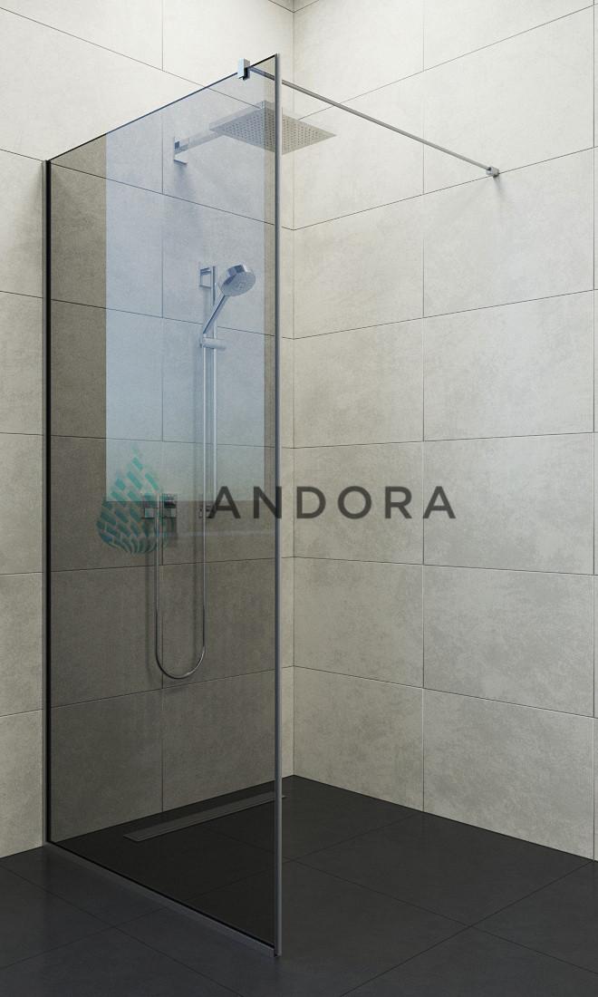 Душевая кабина Andora Summer Walk-in 90x200 стекло grafite