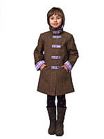 Пальто утепленное для девочки м-905 от рост 128 134, фото 1
