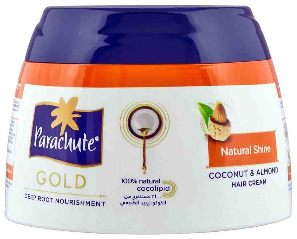 Parachute Gold c экстрактом Миндаля. Кокосовый крем для блеска волос, 140 мл