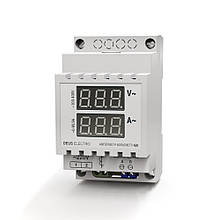 Амперметр-вольтметр однофазный переменного тока цифровой на DIN-рейку АВ1 (100-420В, 0-100А)