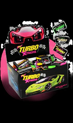 Жевательная резинка Turbo Xtreme, жвачки турбо экстрим 100 шт
