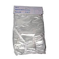 Перчатки полиэтиленовые Gloves размер L (упаковка 100 шт.)