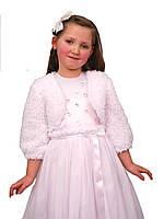 Болеро нарядное меховое для девочек  М-907  рост 98 104 110 116 122