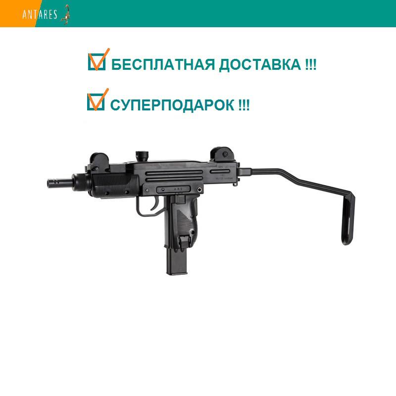 Пневматический пистолет KWC Mini Uzi KMB-07 HN Blowback Мини Узи автоматический огонь блоубэк 101 м/с
