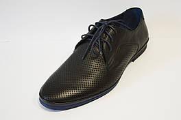 Туфли перфорированные черные Kadar