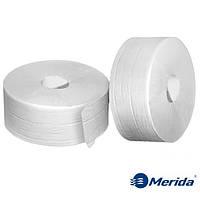 Туалетная бумага Merida Top супербелая двухслойная в рулоне джамбо Maxi 245 м., Словакия