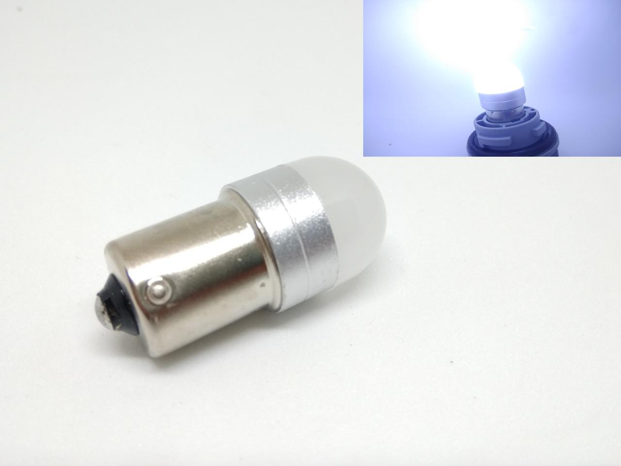 Автолампа LED Ceramic, P21W, 1156, SMD3030, 12V, Белая