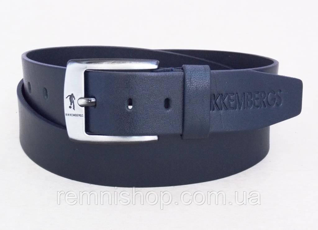 8678f526ec54 Мужской кожаный синий ремень BIKKEMBERGS