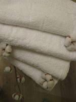Махровое полотенце, 50*100, 100% хлопок, 380 гр/м2, Пакистан, Белый без борда