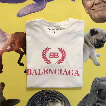 Хлопковая белая футболка унисекс Balenciaga RED, фото 2