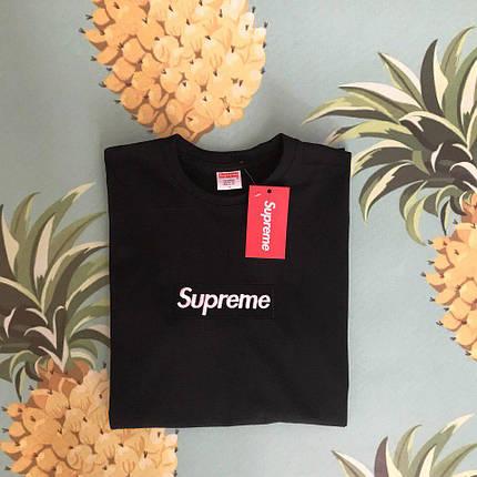 Хлопковая черная футболка унисекс SUP, фото 2