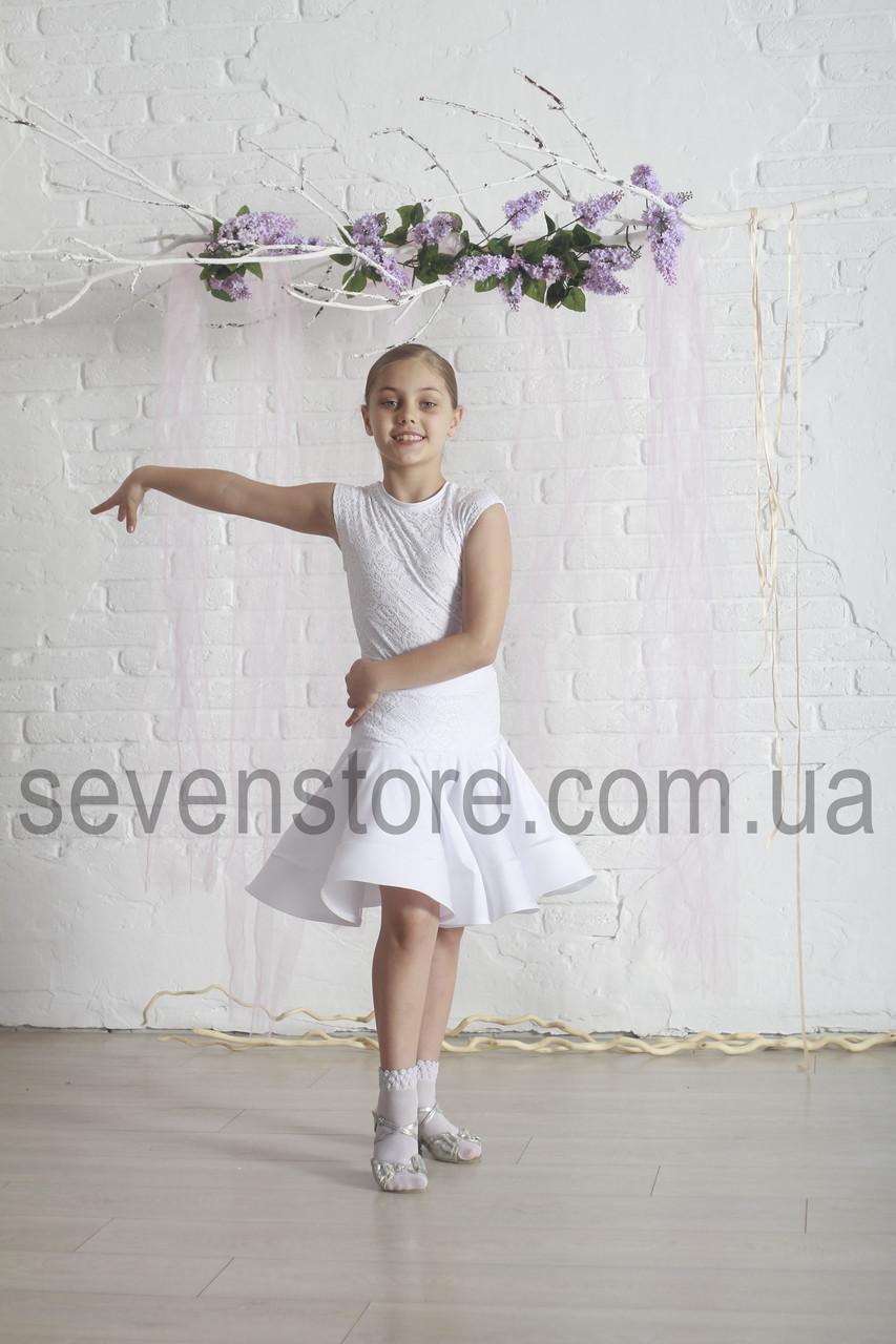 Рейтингове плаття Бейсік для бальних танців Sevenstore 9107 Біле
