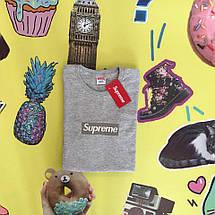 Хлопковая серая футболка унисекс SUP, фото 2