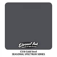 Краска для татуировочных работ Eternal ink. Seasonal  spectrum.Cold Steel 1/2 oz, фото 1