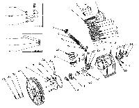 Запчастини до поршневому блоку компресора LB-50
