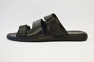 Шлепанцы черные кожаные Faber, фото 2