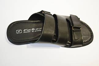 Шлепанцы черные кожаные Faber, фото 3