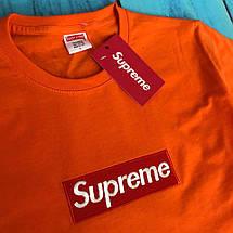 Оранжевая хлопковая футболка унисекс SUP, фото 3