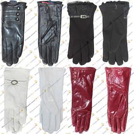Женские перчатки кожа, лак, кашемир, трикотаж