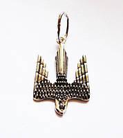 Подвеска серебряная Герб Украины Тризуб Сокол 411050