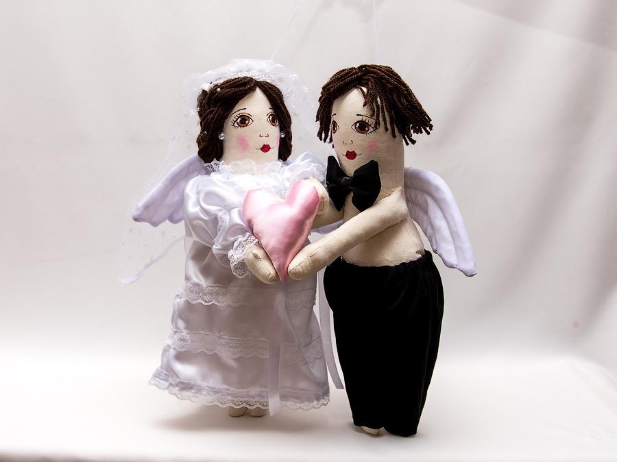 Интерьерная Кукла Vikamade Свадьба