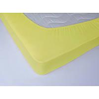 Простынь махровая на резинке Lotus - Желтая 160х200+25