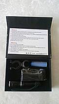 Вело Фонарик Police BL-105 (500W 4200mAh) алюминиевый, с зарядкой, фото 2