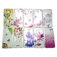 Прозрачный чехол c рисунком и камнями Meizu M5 Note Fashion (Мейзу М5 Ноут Ноте)