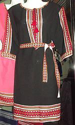 """Плаття з вишивкою недорого """" Вишиванка"""" чорне"""
