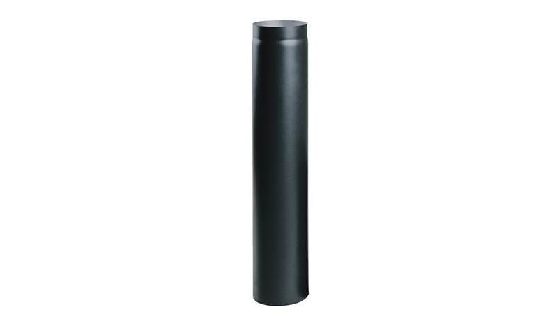 Жаропрочная дымоходная труба 1 м. диаметр 130мм..