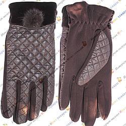 Женские Коричневые перчатки