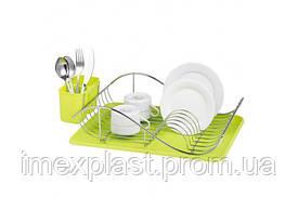 Сушка для посуды TASYA Зеленая  1145
