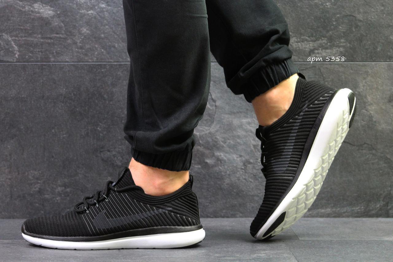 033ec067 Мужские кроссовки Nike черные с белым летние (Реплика ААА+) - bonny-style