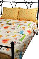 Комплект полуторный постельное белье сатин (пододеяльник, 2 наволочки, простынь) ТМ Руно Джунгли 1.137К