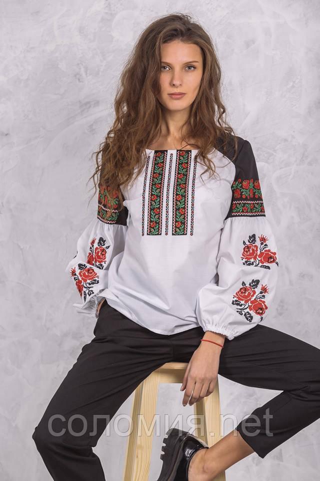 Оригінальна вишита жіноча Блуза 42-52 рр  продажа dd7503245945d