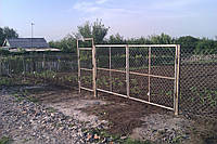 Ворота из сетки рабица 3 м.