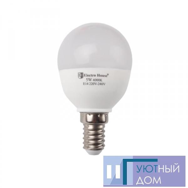 """LED лампа """"куля"""" E14 P45 5W"""